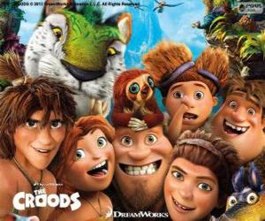 Puzle Personagens principais do os Croods