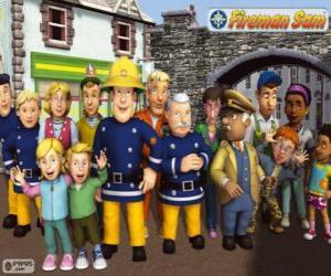 Puzle Personagens, Sam o bombeiro
