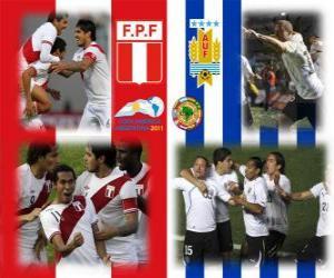 Puzle Peru - Uruguai, semi-finais, Copa América, Argentina 2011