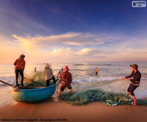 Puzle Pescadores em Vietnam