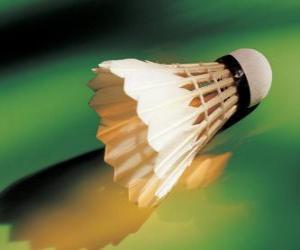 Puzle Peteca ou volante para jogar badminton