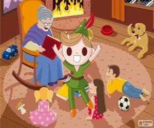 Puzle Peter Pan vive na Terra do Nunca
