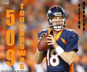 Puzle Peyton Manning 509 touchdowns