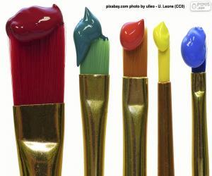 Puzle Pincéis coloridos