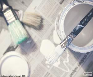Puzle Pincéis e pintura
