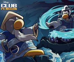 Puzle Pinguins Ninja, personagens do famoso Club Penguin