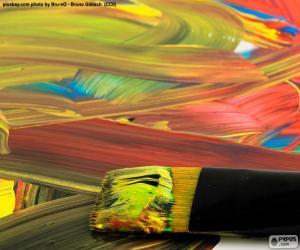Puzle Pintura em várias cores