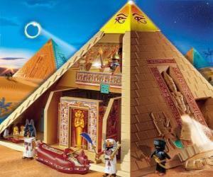 Puzle Pirâmide Egito Playmobil