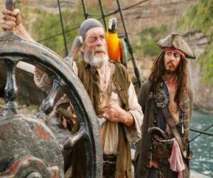 Puzle Pirata ao leme