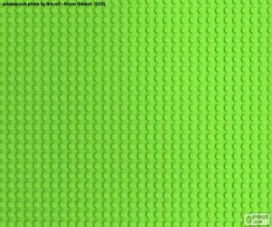 Puzle Placa de base verde de Lego