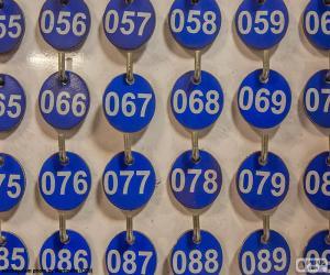 Puzle Placas numeradas