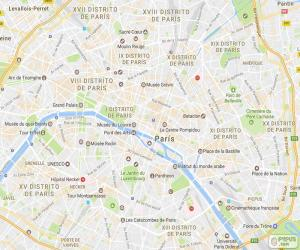 Puzle Plano de Paris