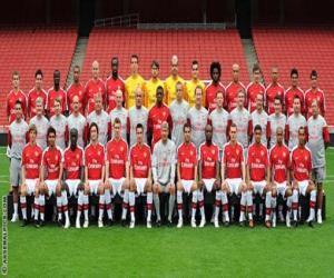Puzle Plantel de Arsenal F.C. 2009-10