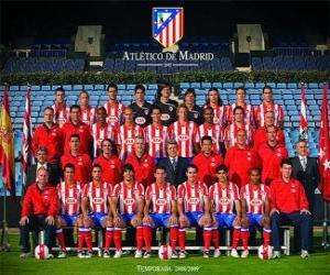 Puzle Plantel de Atlético de Madrid 2008-09