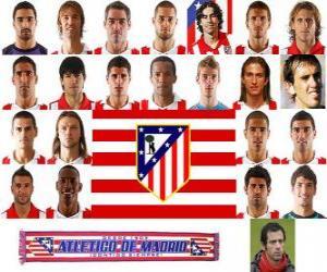 Puzle Plantel de Club Atlético de Madrid 2010-11