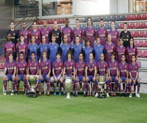 Puzle Plantel de F. C. Barcelona 2009-10
