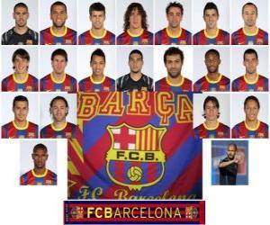 Puzle Plantel de Futbol Club Barcelona 2010-11