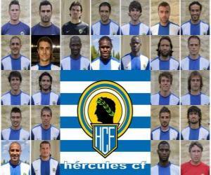 Puzle Plantel de Hércules Club de Fútbol 2010-11