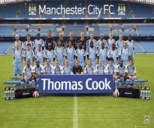 Puzle Plantel de Manchester City F.C. 2007-08