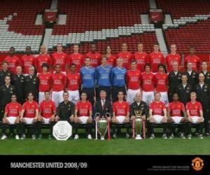Puzle Plantel de Manchester United F.C. 2008-09