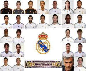 Puzle Plantel de Real Madrid Club de Fútbol 2010-11