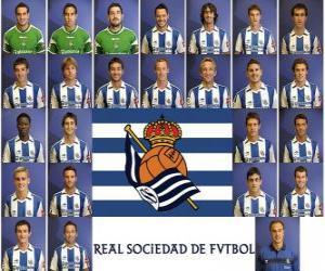 Puzle Plantel de Real Sociedad de Fútbol 2010-11