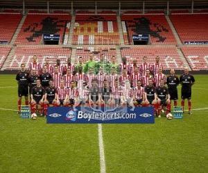 Puzle Plantel de Sunderland A.F.C. 2008-09