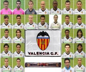 Puzle Plantel de Valencia Club de Fútbol 2010-11