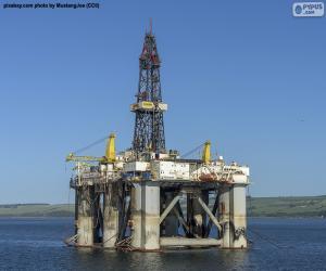 Puzle Plataforma de Petróleo Marinho
