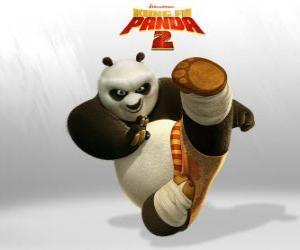 Puzle Po é o principal protagonista das aventuras do filme Kung Fu Panda 2