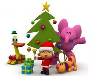 Puzle Pocoyo e seus amigos no Natal