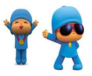 Puzle Pocoyo é um menino jovem, lúdico e divertido que está descobrindo o mundo
