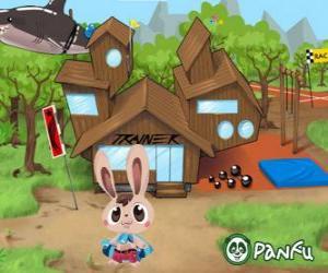 Puzle Pokopet Bugsy, um coelho, um tipo de animal de estimação Panfu