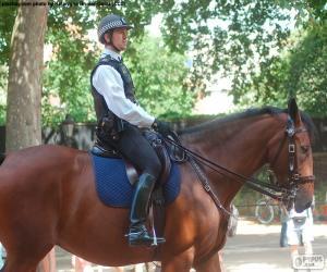 Puzle Polícia de Londres a cavalo