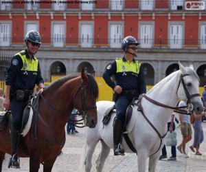 Puzle Polícia Municipal a cavalo, Madrid