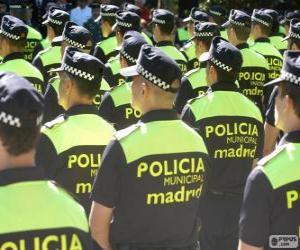 Puzle Polícia Municipal, madrid