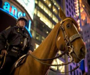 Puzle Policial a cavalo