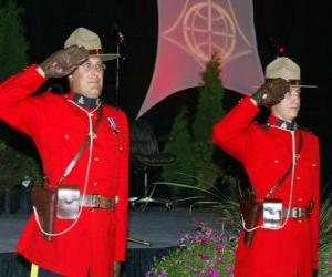 Puzle Policial da Real Polícia Montada do Canadá ou Royal Canadian Mounted Police