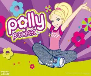 Puzle Polly sentado no chão