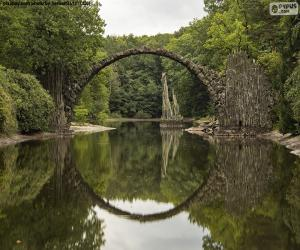 Puzle Ponte do Diabo de Rakotzbrucke, Alemanha