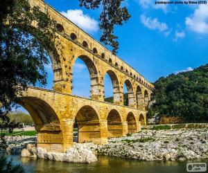 Puzle Ponte do Gard, França