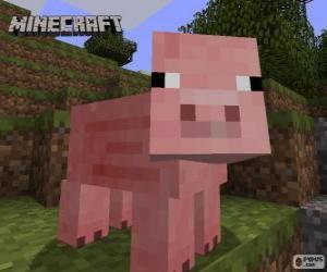 Puzle Porco de Minecraft
