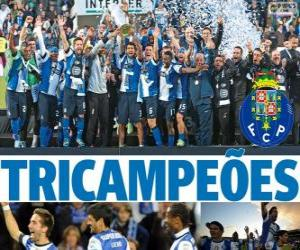 Puzle Porto, campeão da liga de futebol de Portugal 2012-2013, Primeira Liga, Primeira Divisão Nacional