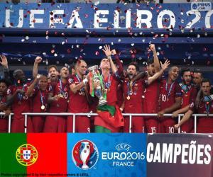 Puzle Portugal, campeão Euro 2016