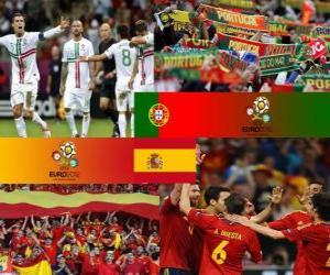 Puzle Portugal - Espanha, semi-finais Euro 2012