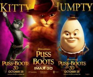 Puzle Poster do filme Gato de Botas