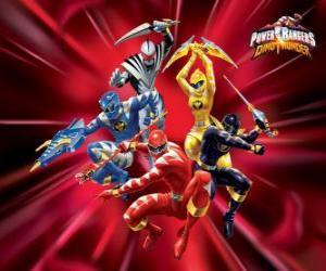 Puzle Power Rangers Dino Trovão ou Power Rangers Dino Thunder