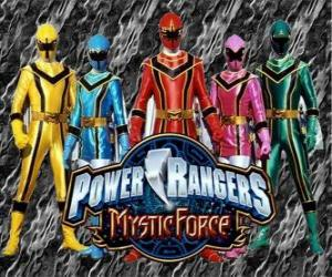 Puzle Power Rangers Força Mística ou Power Rangers Mystic Force