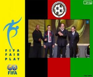 Puzle Prémio Fair Play 2013 FIFA para o Afeganistão
