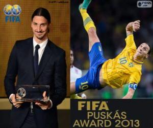 Puzle Prêmio Puskas da FIFA 2013 para Zlatan Ibrahimovic